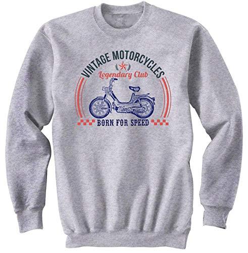 Teesandengines Benelli g2 pedali Vintage Motorcycles Gris Sudadera Size Large