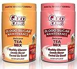 2-Pack, GlucoDown Diabetic Friendly Beverage, Maintain Healthy Blood Sugar (1-Peach Tea & 1-Raspberry Tea)