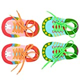 NUOBESTY Shoelace Threading Teaching Toys Learn to Tie Shoelaces Toys Early Educational Toys for Kids Toddlers