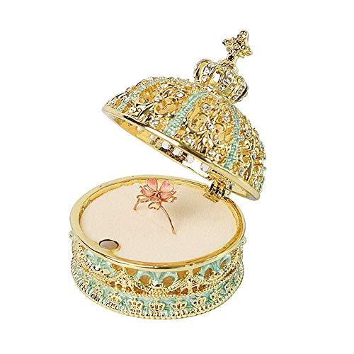 WOZUIMEI Caja de Joyería para Mujer Estilo Princesa Anillo Manual Almacenamiento de Exhibición Ase Anillo de Compromiso de Boda Organizador de Caja de Joyería Caja de BaratijasB