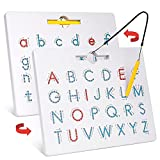 Gamenote Double Sided Magnetic Letter Board - 2 in 1...
