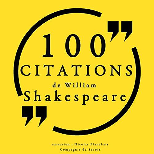 Couverture de 100 citations de William Shakespeare
