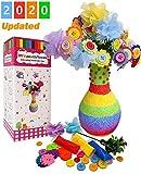 AYUQI attività Creative per Bambini, Bottoni Colorati per Decorare, Kit per lavoretti creativi Bimbi, Handmade Artigianato DIY Ornamenti per Festa della Mamma Compleanno Regali di Natale