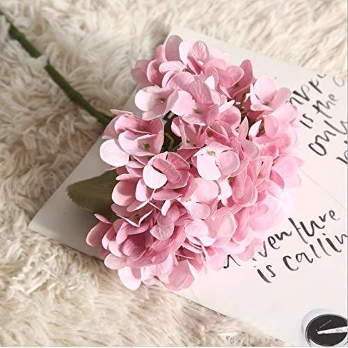 lliang Künstliche Blumen 1 Bund Seide Hortensien Vasen for Heimtextilien Zubehör Haushaltsartikel Künstliche Blumen Hochzeit dekorative Blumen (Color : 2)