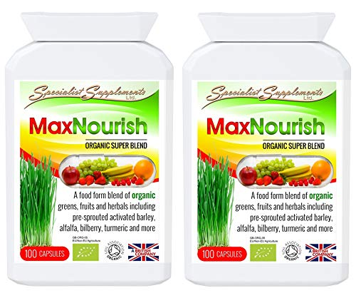 Specialist Supplements MaxNourish Organic 100 Capsules (Pack of 2)