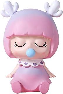 TOYANDONA Resin Piggy Bank Cartoon Saving Pot Elf Shaped Coin Bank Money Bank Saving Coin Box Gift Toy for Kid Children