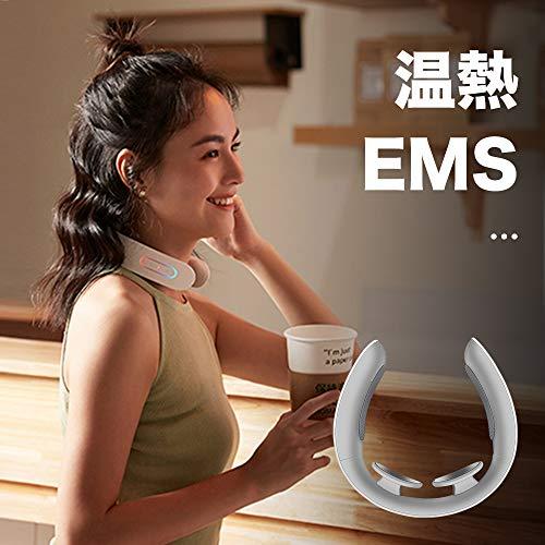 Techlove EMS 首こり マッサージ機 ネックマッサージャー 軽量 ポータブル USB充電 多機能 電気マッサージ 首こり 日本語マニュアル バレンタインデー 最適なプレゼント(白) [並行輸入品]