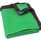 YYQ Rete Telo Ombreggiante Frangisole Frangivista Verde Frangivento Tessuto Ombra Oscurante al 90%, per Terrazzi Piantumazioni di Fragole 2X2M