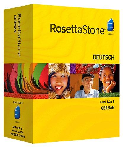 Rosetta Stone Version 3: German Level 1, 2 & 3 Set with Audio Companion