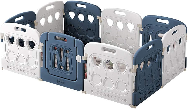 ldren's fence scatola per Bambini   8 Pezzi Incluso Pannello di attività Diverdeenti   Resistente E Durevole - Realizzato con Materiali Atossici di Alta qualità   Interni per Esterni (Blu)