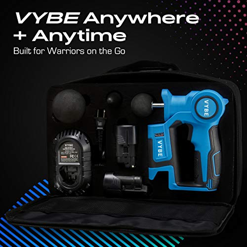 VYBE PERCUSSION Massage Gun -Handheld, Brushless, Cordless, Electric -Deep Tissue Therapy, Body Massager -Muscle Deep Relaxation