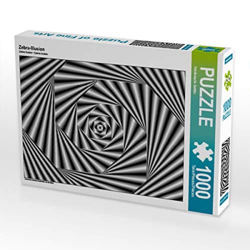 CALVENDO Puzzle Zebra-Illusion 1000 Teile Lege-Größe 64 x 48 cm Foto-Puzzle Bild von Heidemarie Sattler