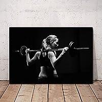 フィットネスポスターワークアウトポスターホームジムの装飾モチベーションウォールアートパネルセクシーな女性ポスターインスピレーションポスタージムウォールポスターキャンバスアートパネル40x60cm /フレームなしI277