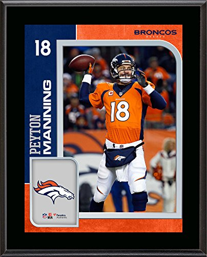 Peyton Manning Denver Broncos 10.5'' x 13'' Sublimated Player Plaque - NFL Player Plaques and Collages