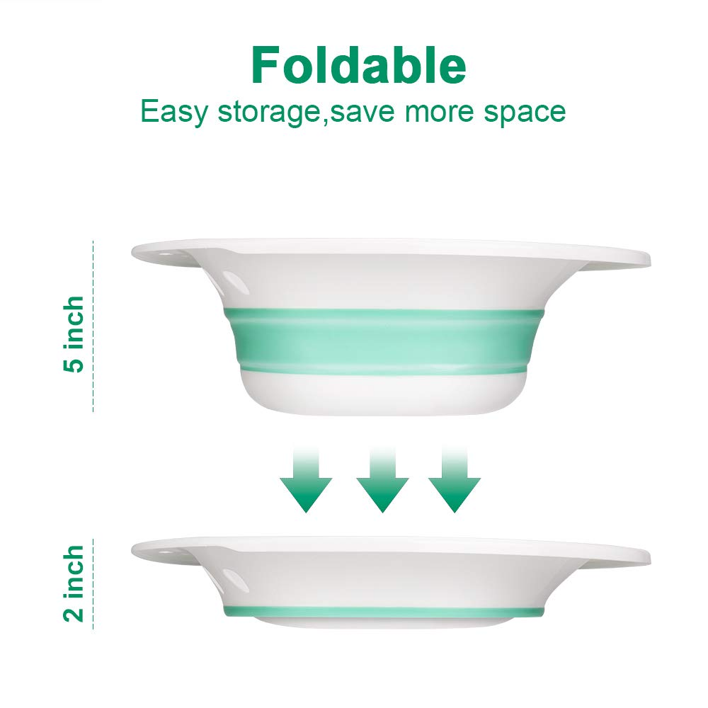 Zafina Sitz Bath for Toilet Seat, Foldable Postpartum Care Basin, Sitz Bath Tub for Soothes and Cleanse Vagina & Anal, Hemorrhoids and Perineum Treatment, Ideal for Post-Episiotomy Patients