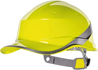Delta Plus DIAM5 Baseball Shape Safety Cap, Adjustable, Yellow (20 units)