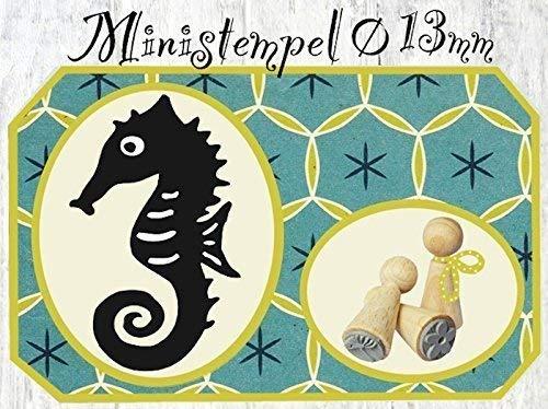 Zwergenstempel Seepferdchen, Ø13mm, fast 400 lustige Stempel-Motive im Shop