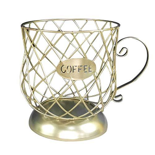 Recipiente de almacenamiento en forma de taza para guardar cápsulas de café, cesta de almacenamiento para café, soporte para cápsulas de café, gran capacidad