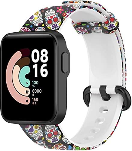 Gransho Correa de Reloj Compatible con Xiaomi Mi Watch Lite/Redmi Watch, Silicona Banda de Reemplazo Pulsera (Pattern 2)