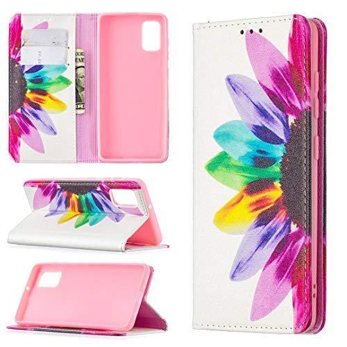 Funda protectora, Para Samsung Galaxy A41 Premium PU Cartera de cuero, patrón impreso Cuero + TPU Funda de cubierta inferior con ranura para tarjeta, caja de cubierta magnética de 2 en 1 con función d