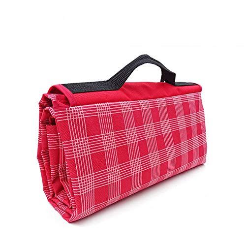 Haonan Camping al aire libre Picnic Mat impermeable PVC plegable a cuadros playa para dormir manta picnic alfombra impermeable dormir tienda
