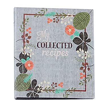 Meadowsweet Kitchens Create Your Own (Fabric Covered) Collected Recipes Cookbook - Vintage Flowers