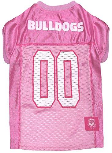 Pets First Collegiate Georgia Bulldogs Dog Jersey, Medium, Pink
