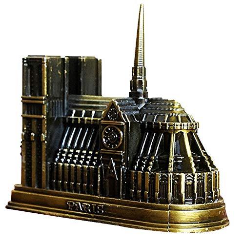 Bontand Kathedrale Notre-Dame 3D-Metall-Modell Stahl Architektur Modell Dekorative Handwerk Notre Dame De Paris Miniatures Hauptdekoration Büroaccessoires