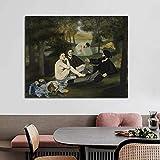 KWzEQ Famoso Pintor Retro Wall Art Poster Lienzo Pared Moderna Sala de Estar decoración del hogar,Pintura sin Marco,60x75cm