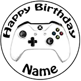 Personalisierter Xbox Controller Zuckerguss Kuchen Topper / Kuchendekoration - 20 cm Großer Kreis -...