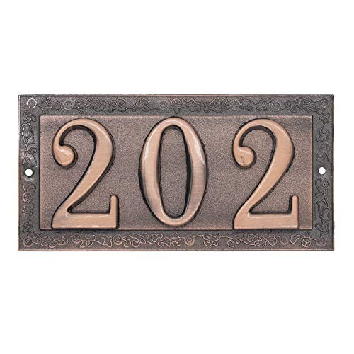 magnetic ceramic house numbers - 6