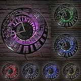 Clave de Sol Teclas de Piano Reloj de Pared Disco de Vinilo Estudio de música reutilización de música Reloj Retro