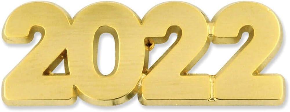 PinMart Gold Year 2022 School, Graduation, New Years, Anniversary Lapel Pin