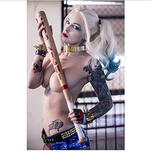 Bilddrucke 70x90cm Kein Rahmen Harley Quinn Poster Sexy Clown Mädchen Abenteuer Film Poaster DC Dekorative Malerei Ölgemälde