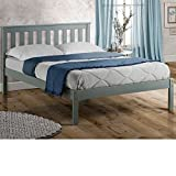 Grey <span class='highlight'>Pine</span> <span class='highlight'>Wooden</span> Bed, <span class='highlight'>Happy</span> <span class='highlight'>Beds</span> Denver Wood Shaker Bed - 3ft Single (90 x 190 cm) Frame Only