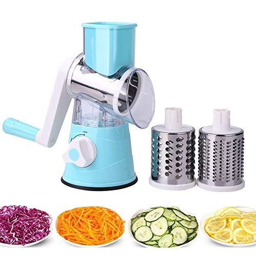 YIHGJJYP Manuel légumes Cutter Slicer Multifonctions Ronde Mandoline Fromage de Pommes de Terre Fruit Shredder Grater Cuisine Robot culinaire