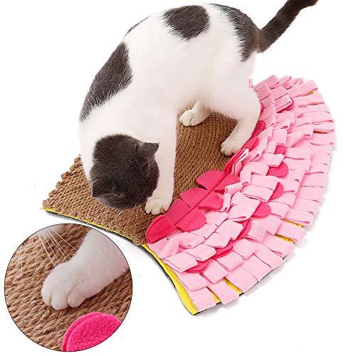AYADA Katzenkratzer-Matte, Kratzmatte kratzspielzeug kratzbretter Katze Kratzbrett Kratzmatten Kratzpad Kratz Spielzeug für Katzen Katzenpad Katzenmatte Katzenspielmatte schnüffelteppich für Katzen