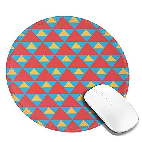 Alfombrilla antideslizante para ratón, diseño de triángulos grandes y pequeños, en colores shabby vintage, para oficina
