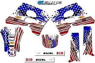 Senge Graphics kit compatible with Suzuki 1993-1995 RM 125/250, Merica Base graphics kit.