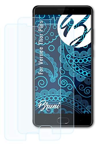 Bruni Schutzfolie kompatibel mit Vernee Thor Plus Folie, glasklare Bildschirmschutzfolie (2X)