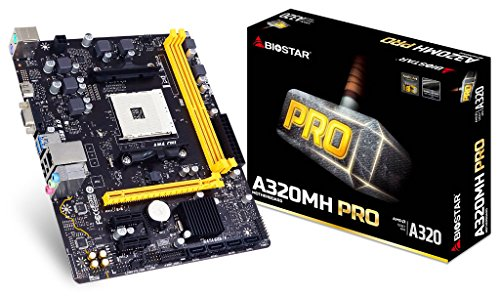 Biostar A320MH Mainboard (A320,AM4,mATX,DDR4,AMD)