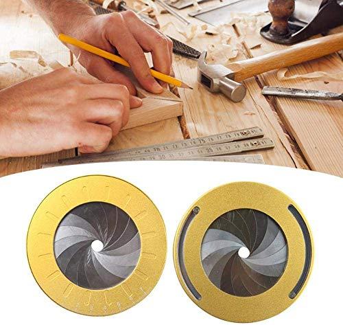 Pequeñas Herramientas de Dibujo Ajustables, Regla de Dibujo Creativa Herramienta de círculo Redondo Medida Ajustable Acero Inoxidable, Herramienta de Dibujo de círculo Creador de círculos