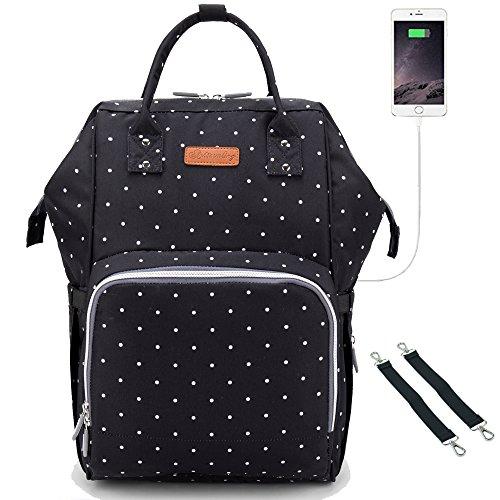 Bison Denim Baby Wickeltasche Reise Rucksack,Isolierte Tasche, Wasserdicht Stoffe, Multifunktional, Passform für Kinderwage, Große Kapazität Modern Einzigartig Tragbar Handtasche Organizer