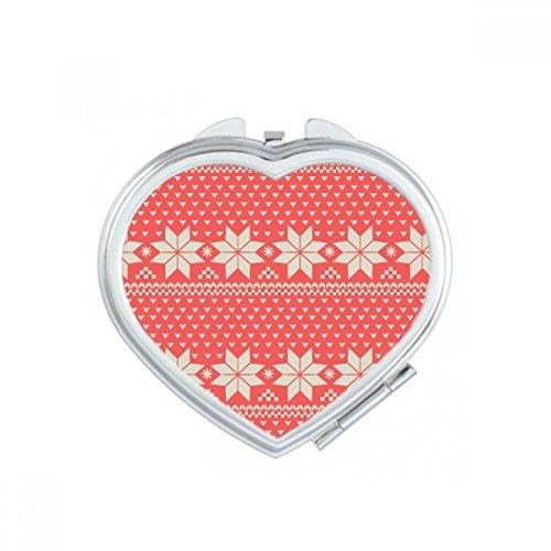 Rojo beige copo nieve Forma Octogonal forma corazón