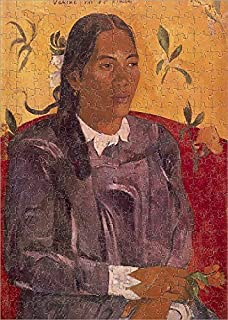 Media Storehouse 252 Piece Puzzle of Woman with Flower (Vahine no te Tiare), 1891, by Paul Gauguin (1848-1903) (10608668)