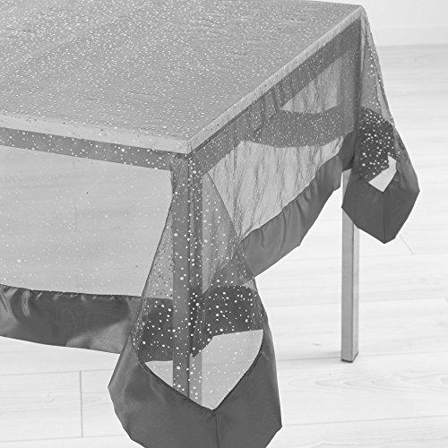 lharmonie du décor nappe rectangle 140x240cm festille gris