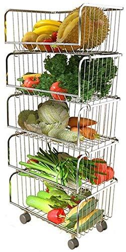 XT Estante de verduras Racks de almacenamiento de frutas y verduras, bastidores de almacenamiento de cocina, bastidores de múltiples capas de plástico para el hogar y estantes de almacenamiento de veg