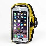 Shoebill スマホ アームバンド アームポーチ ランニング 指紋認証対応 iPhone8/7/6s 8Plus/7Plus/6sPlus (イエロー)