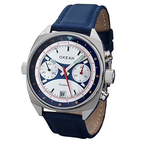OKEAN Poljot 3133/1981599 Cronografo leggendario orologio militare russo Ocean OKEAH
