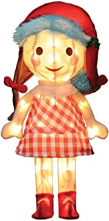 ProductWorks 24-Inch Pre-Lit 3D Misfit Sally in Santa Hat Christmas Yard Decoration, 50 Lights